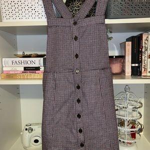 NWT Plaid Overall/Pinafore Dress